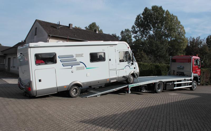 Wohnmobil-Transport